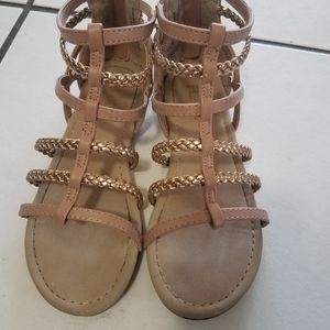 The Childrens place gold tan gladiator sandals 13